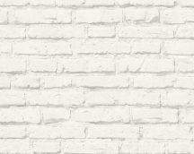 As-Creation Free Nature/Elements 34399-2 Narur/Ipari design téglaminta halványszürke fehér tapéta