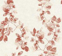 As-Creation Daniel Hechter 5, 34494-1 ágak levelek fehér piros rózsaszín tapéta
