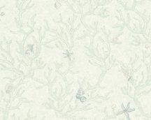 As-Creation Versace 3, 34496-2  kagylók korallok zöld fehér tapéta