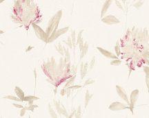 As-Creation Designdschungel 2, 34498-3 virágos krém bézs barna lila fémes csillogó hatás tapéta