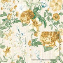 Sintra Marbella 348024  LUCIA Virágos minta krém bézs zöld sárga aranysárga tapéta