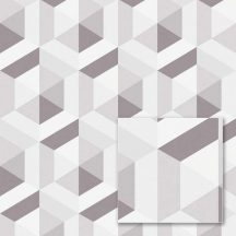 """Sintra Marbella 348116 CABALLERO Geometrikus 3D """"koncentrikus"""" hatszögek"""" szürke szürkésbarna csillogó mintafelület tapéta"""