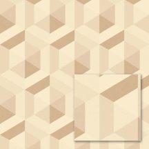 """Sintra Marbella 348123 CABALLERO Geometrikus 3D """"koncentrikus"""" hatszögek"""" krém bézs barna csillogó mintafelület tapéta"""