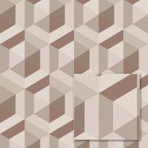 """Sintra Marbella 348130 CABALLERO Geometrikus 3D """"koncentrikus"""" hatszögek"""" krémszürke szürke barna réz csillogó mintafelület tapéta"""