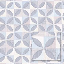 Sintra Marbella 348208 PORTO Geometrikus Retro fehér szürke világoskék szürkéslila tapéta