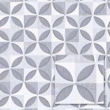 Sintra Marbella 348215  PORTO Geometrikus Retro fehér szürke ezüst sötétszürke tapéta