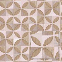 Sintra Marbella 348239  PORTO Geometrikus Retro halvány rózsaszín szürkéslila krém bézs barna tapéta