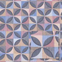 Sintra Marbella 348246  PORTO Geometrikus Retro bézs kék rózsaszín sötétszürke barna szürke tapéta