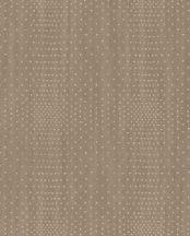 Eijffinger Topaz 394511 SPARKLE Geometrikus fémes pontokkal kialakított négyzet minta barna szürkésbarna arany tapéta
