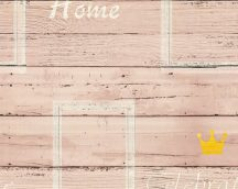 As-Creation Cote d'Azur 35341-1  deszkaminta felirattal bézs barna sárga  tapéta