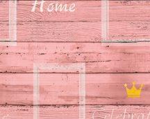 As-Creation Cote d'Azur 35341-4  deszkaminta felirattal rózsaszín  krém  sárga  tapéta