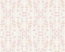 As-Creation Life 4, 35690-1 grafikus design krémfehér rózsaszín  tapéta