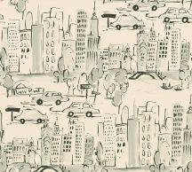 As-Creation  Boys & Girls 6, 36753-2 Gyerekszobai grafikus város házak bézs szürke fekete tapéta