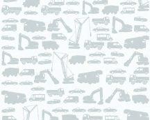 As-Creation Little Stars 35815-1 teherautók munkagépek szürke tapéta