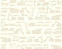 As-Creation Little Stars 35815-3  teherautók munkagépek krém bézs tapéta