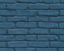 As-Creation Attractive 35856-1 Natur/Ipari design téglafal optikai 3D kék fekete tapéta