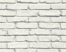As-Creation Attractive 35856-2  Natur/Ipari design téglafal optikai 3D fehér szürke tapéta
