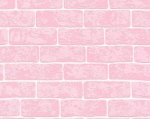 As-Creation Club Tropicana 35981-2 téglaminta rózsaszín  fehér tapéta