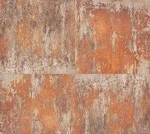 As-Creation Neue Bude 2.0, 36118-2  patinás acéllemez rozsdabarna szürke bézs tapéta