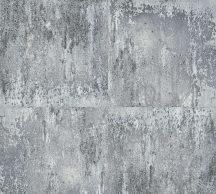 As-Creation Neue Bude 2.0, 36118-3  patinás acéllemez szürke ezüst fekete tapéta