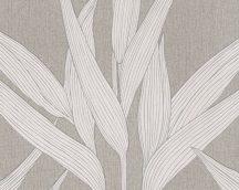 As-Creation Hygge 36123-3 natur levélmotívum dekorminta szürkésbarna krém tapéta