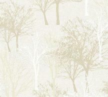 As-Creation Elegance 5th Avenue 36147-1 Natur Grafikus fák-facsoport krémfehér halvány szürke fehér szürkésbézs árnyalatok tapéta