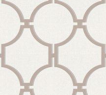 """As-Creation Elegance 5, 36149-3 Grafikus nagyformátumú """"kovácsolt vas"""" mintázat 3D krémfehér bézs/világosbarna tapéta"""