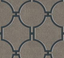 """As-Creation Elegance 5, 36149-5 Grafikus nagyformátumú """"kovácsolt vas"""" mintázat 3D barna szürkésbarna szürke antracit tapéta"""