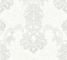 As-Creation Neue Bude 2.0, 36166-1  barokk díszítőminta fehér világos szürke tapéta