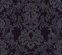 As-Creation Neue Bude 2.0, 36166-3  barokk díszítőminta fekete antracit tapéta