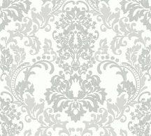 As-Creation Neue Bude 2.0, 36166-4  barokk díszítőminta fehér szürke tapéta