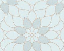 As-Creation Neue Bude 2.0, 3617-14 virágos zöldeskék bézsarany tapéta