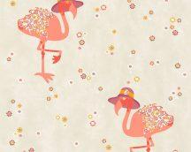 COZZ 36291-2 szines rózsaszín, narancs flamingók tapéta