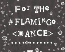 COZZ 362913-1 Flamingo Dance feliratok-virágok fekete fehér tapéta