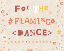 COZZ 36293-2  Flamingo Dance feliratok-virágok bézs piros narancs tapéta