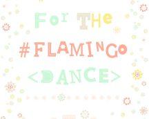 COZZ 36293-3  Flamingo Dance feliratok-virágok fehér sárga zöld  tapéta