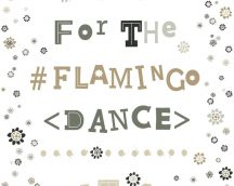 COZZ 36293-4  Flamingo Dance feliratok-virágok fehér szürke fekete barna  tapéta
