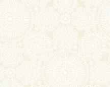 COZZ 36295-2  mandala minta fehér krém bézs tapéta