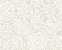 COZZ 36295-3  mandala minta krémfehér szürkésbézs tapéta