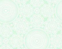 COZZ 36295-4  mandala minta fehér zöld tapéta