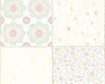 COZZ 36296-2  etno csempe fehér rózsaszín szines tapéta