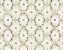 COZZ 36297-1 etno grafikus minta fehér bézs szürke barna tapéta