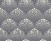 As-Creation Palila 36310-1 Retro grafikus geometrikus formába rendezett levelek szürke ezüst antracit lilásszürke tapéta