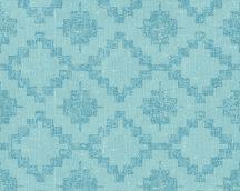 As-Creation California 36375-4 etno grafikus textil kék türkizkék tapéta