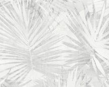 As-Creation Hygge 36385-1  natur pálmalevelek fehér bézs szürke tapéta