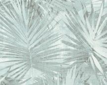 As-Creation Hygge 36385-3 natur pálmalevelek zöld kék türkiz tapéta