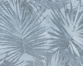 As-Creation Hygge 36385-5 natur pálmalevelek kék szürke tapéta
