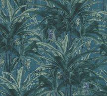 As-Creation Greenery 36480-1 Natur trópusi dzsungel kék és zöld árnyalatok tapéta
