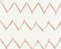 As-Creation Designdschungel 2, 36574-3  grafikus textil krémfehér barna/rézszín fémes csillogó hatás tapéta