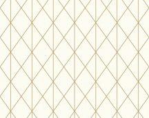 As-Creation Designdschungel 2, 36575-1 grafikus krém arany fémes csillogó hatás tapéta